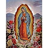 DIY 5D Diamond Painting by Number Kits, 5D Diamond Painting Virgen María Niños-Amor materno Niño 40x60cm