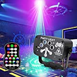 winoon Stage Laser Projector Party Lights for Christmas Outdoor/Indoor,Disco Party Laser Light with RGB&UV LED,Remote Control,Sound Activated Strobe for Birthday, Family Party,Dance,Wedding,Karaoke