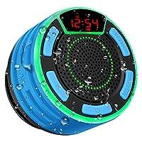 【Display a LED Multifunzione】 Questo display a LED per altoparlanti Bluetooth 5.0 portatile wireless consente di visualizzare la potenza e l'ora in modalità Bluetooth. In modalità FM, è possibile visualizzare il numero di canali radio e canali. È ino...