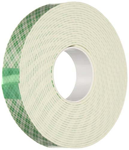 "3M 4016 Natural Polyurethane Double Coated Foam Tape, 0.25"" Width x 5yd Length (1 roll)"