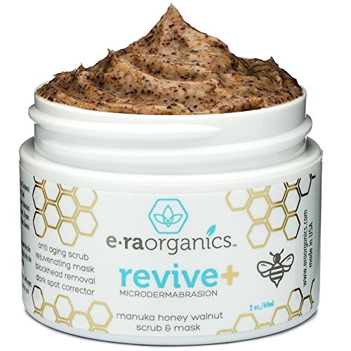 Microdermabrasion Facial Scrub &Amp; Face Exfoliator - Natural Exfoliating Face Mask With Manuka Honey &Amp; Walnut - Moisturizing Facial Exfoliant For Dull Dry Skin Care, Wrinkles, Acne &Amp; More Era-Organics