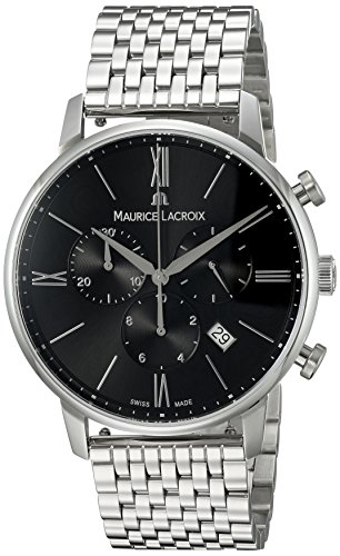 Maurice Lacroix Herren Chronograph Quarz Uhr mit Edelstahl Armband EL1098-SS002-310-1