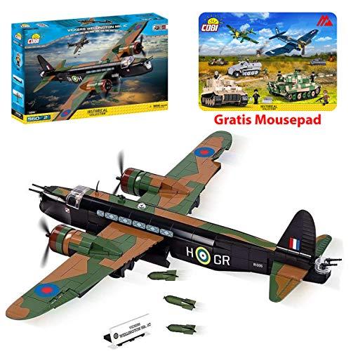COBI Konstruktion Spielzeug Flugzeug Kampfjet Jet Vickers Wellington Mk.1C 5531 + Mauspad von Juminox Gratis