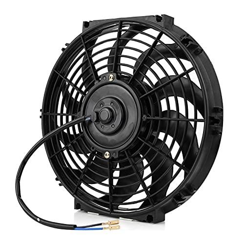 Yayan YAYANGG 80W 12V 12 Pulgadas Motor Radiador Radiador Refrigerador de Aceite Refrigerador eléctrico Pulsero Ensayo Motor Radiador Motor Slim Enfriamiento Ventilador Universal