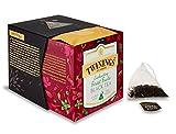 Twinings Platinum - Enchanting Forest Fruits Black Tea -Té Negro Chino con Sabor a Bayas y Vainilla con Trozos de Fresa y Pétalos de Rosa de Aciano - Ingredientes en Trozos 15 Sobres de Seda Piramidal