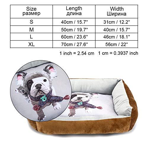 Haustierbett für große Hunde, für kleine, mittelgroße und große Hundematten, Bank, Liege, Katze, Chihuahua, Welpen, Hundehütte, Haustierhaus, Zubehör, Kaffeebraun