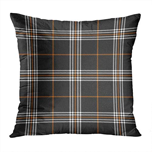 Pamela Hill Throw Pillow Decor Square 20 x 20 Pulgadas Buffalo Plaid Retro Classic Nostalgia Art Super Soft Funda de cojín Decorativo
