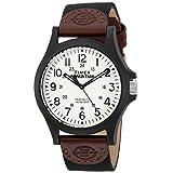 Timex TW4B08200 Expedition Acadia メンズ腕時計 ブラック ブラウン ホワイト レザー ナイロンストラップ
