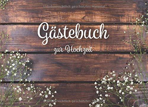 Gästebuch zur Hochzeit: Vintage Rustic Hochzeits Gästebuch für unsere Hochzeit mit Fragen und...