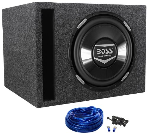 "Boss Audio Armor AR12D 12"" 2400 Watt Car Subwoofer with Vented Sub Enclosure Box"