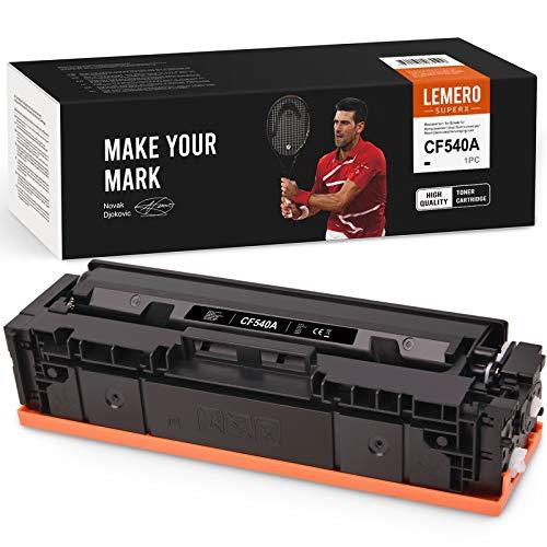 LEMERO SUPERX 203A Kompatibel für HP 203A CF540A Tonerkartuschen für HP Color Laserjet Pro M454dn M454dw MFP M479dw M479fdn M479fdw Drucker (1xSchwarz
