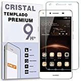 REY Protector de Pantalla para Huawei Y5 II 2016 Cristal Vidrio Templado Premium