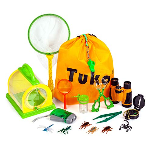 Tuko Explorer Kits & Bug Catcher Kit Critter Barn Habitat for Indoor/Outdoor Insect Collecting Nature Exploration Toys for Boys and Girls 3+ Years Old (Explorer Kit)