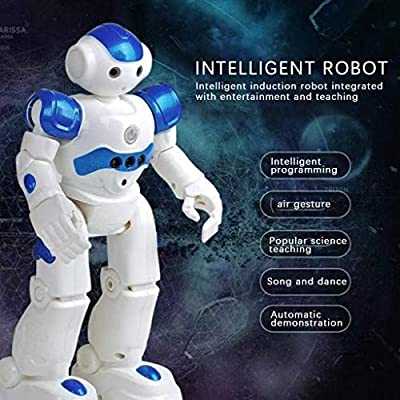 RC Smart Robot Toys for Kids,Remote Control Robot Intelligent Programmable Gesuture Sensing Robot Toys,Walking,Talking,Singing,Dancing,Intelligent Toy Gift for Boys Girls (Blue)