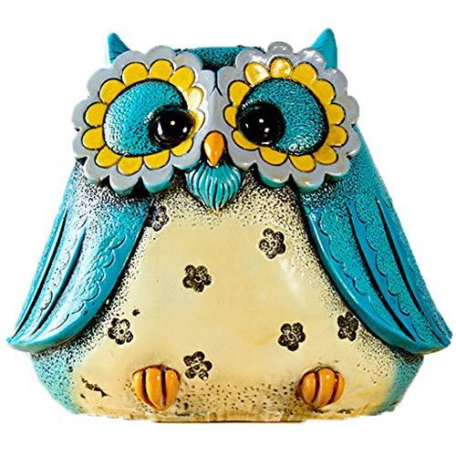 Kassa MYKK Uil Bank Geld Munt Veilig Opslaan Kassa Kinderen Creatieve Keramiek Speelgoed Decor Gift 16 * 14 cm Blauw - L