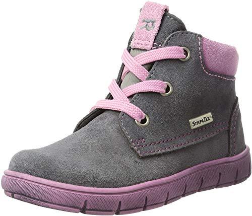Richter Kinder Lauflerner grau Velourleder SympaTex Mädchen Schuhe 1124-242-6301 ash Info S, Farbe:grau, Größe:21