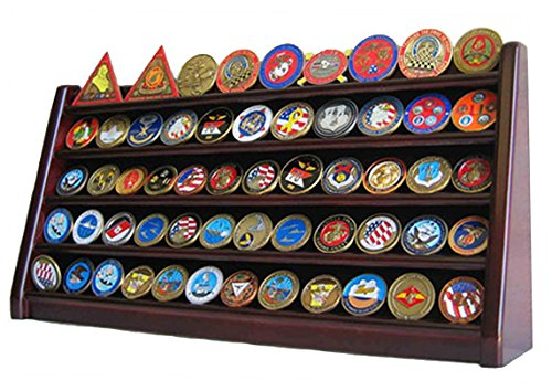 5 Rows Challenge Coin Holder Display Stand