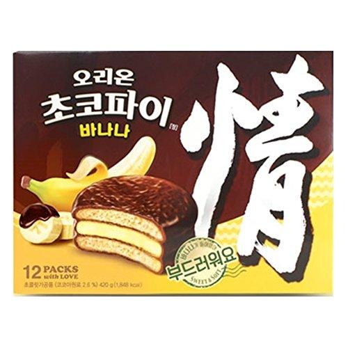 オリオンバナナ味チョコパイ、5箱(12個入りX5BOX)バナナの香り[海外直送品]