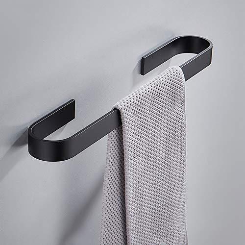 Melairy SUS304 Edelstahl Handtuchring Matt Schwarz Wandmontage Badezimmer Handtuchhalter Stange Rack für WC Und Bad Schwarz (40CM)