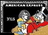 Impresiones Y Poster Negros De American Express Pintura De Dinero De Pato De Dibujos Animados Lienzo Cuadro Artístico Decoracion Salon B2 50x70cm Sin Marco