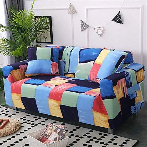 HNXCBH Funda de sofá 1 pieza de spandex moderna funda de sofá elástica floral de poliéster de 1/2/3/4 plazas, funda para sofá de sala de estar, protector de muebles