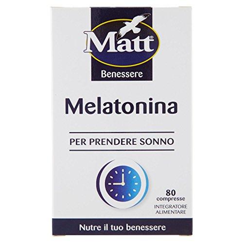 Matt Integratore per Prendere Sonno Melatonina, 80 Copresse, 6.8g