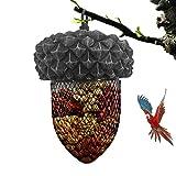 Acorn Bird Feeder Metal, Hanging Bird Nut Feeder, Metal Fatball Peanut Bird Feeder Wild Bird Seed Feeder Bird Feeding Tool for Garden Decoration Birds and Animals