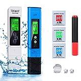 pH-mètre pH TDS et température EC testeur BIO 5 en 1 Testeur de qualité de l'eau avec Écran LCD, testeur de qualité l'eau numérique (ATC) pour l'eau potable, testeur pH Mètre électronique 2020 NOUVEAU