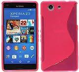 Sony Xperia Z3Compact D5803Carcasa de silicona en rosa @ Energmix
