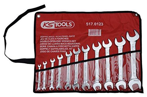 KS Tools 517.0123 CLASSIC Doppel-Maulschlüssel-Satz, 11-tlg., 6x7-30x32mm