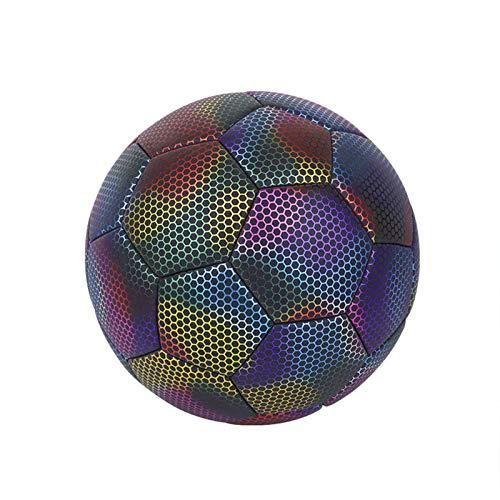 Balón de fútbol juvenil para niños, fútbol luminoso, tamaño 4/5, balón de fútbol que brilla en la oscuridad, reflectante para niños de 5 a 16 años de edad, regalo de cumpleaños