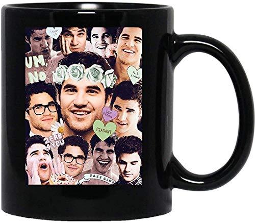 Darren Criss Glee Blaine Anderson Klaine Kurt Hummel Chris Colfer Taza de café divertida para mujeres y hombres Tazas de té () Taza con asa, taza de viaje de café Taza con asa, taza de viaje de café