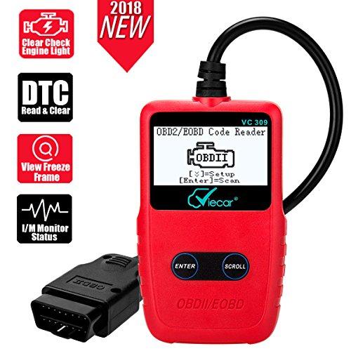 iLC OBD 2 Escáner de Diagnóstico Lector OBD II/EOBD Interfaz Claro Motor Error Luz Problema Error Lector de Código con Pantalla LCD OBD2 Cable para Coche