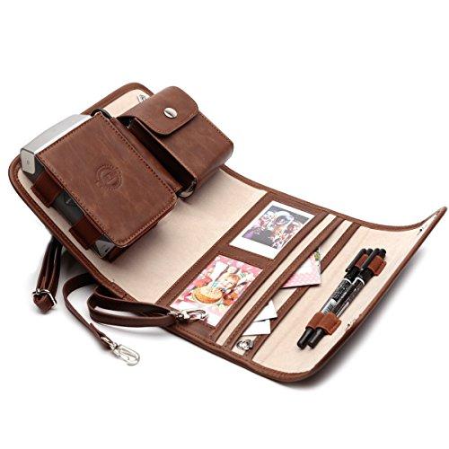 Schützhülle Tasche für Fujifilm INSTAX SHARE SP-2 Smart Fotodrucker, Mobile Reisetasche zum Tragen (Braun)