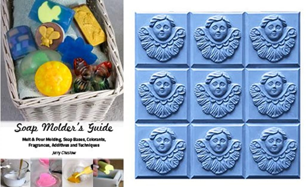 CybrTrayd Angel Mold in Sealed Poly Bag, with Richly Illustrated 44-Page Soap Molder's Guide