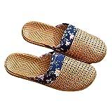 YWYW Sandali alla Moda da Donna Sandali alla Caviglia Casual Sandali Piatti Intrecciati a Punta Tonda Comodi Sandali da Spiaggia Pantofole Scarpe da Esterno per Interni Scarpe Flatform D 37/38