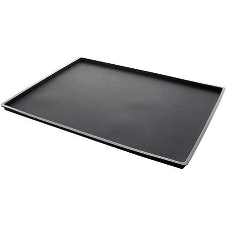 Lékué - Tapis de Four à Rebords Silicone Noir 40 x 30 cm