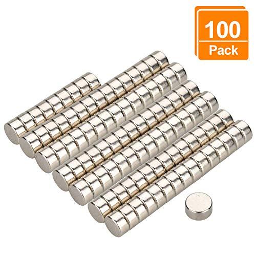 Preisvergleich Produktbild Willingood Neodym-Super-Magnete Würfel 6 x 3 mm [100 Stücke] Sehr Starke Magnete für Glas-Magnetboards,  Magnettafel,  Whiteboard,  Tafel,  Pinnwand,  Kühlschrank