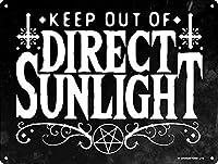 直射日光を避けてくださいブリキの看板壁の装飾金属ポスターレトロなプラーク警告看板オフィスカフェクラブバーの工芸品