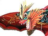 One World is Enough Cometa de dragón balinés grande hecha a mano, 118 cm, longitud 218 cm, comercio justo