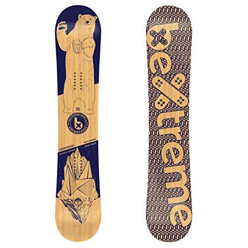 BeXtreme Tavola Snowboard Diamond. Freestyle Snow. Eco bambú e Maple Snowboard. Sizes 152, 157 e 160cm. Snowboard Rocker per Uomini e Donne