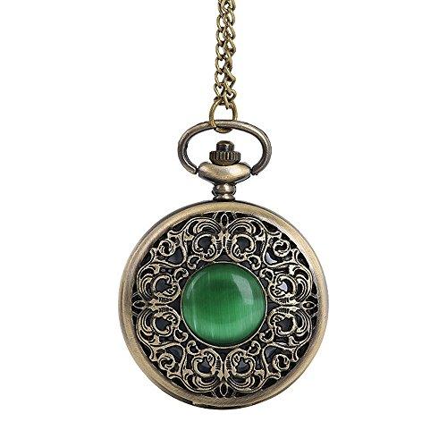 ALIKEEY heren chronograaf kwartsuurwerk vintage ketting retro De grootste zakketting voor Opa Vati geschenken horloge met plaatstalen armband