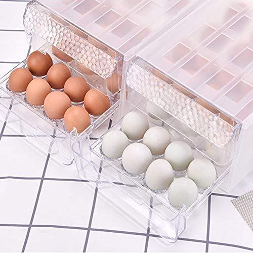 Eihalter Kühlschrank Aufbewahrungsbox Schublade Organizer Typ Küche Stapelbehälter Doppelschicht 34 Transparent Ei Aufbewahrungsbox