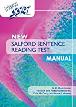New Salford Sentence Reading Test: Manual by Colin McCarty (2012-03-30)