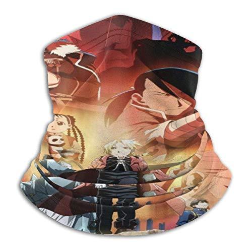 Scarf Headband,Fasce Fullmetal Alchemist 12-in 1, Protezioni per Il Viso Sportive Leggere per L'Arrampicata Atletica,26x30cm