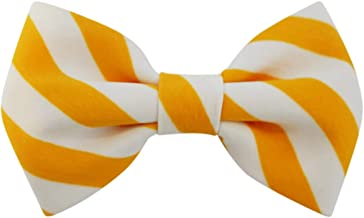 Mustard Hand Stitched - Dog Cat Pet Bow Tie Bowtie Collar Accessory for Large Dogs Handcrafted Bow Tie