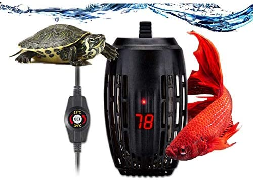 Aquarium Heater 100w Fish Tank Submersible Heater Turtle Heat Rod with Temperature Display External product image