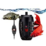 ★【Application】Applicable for freshwater and marine aquariums, Betta, Frogs, Newts, Turtles, aquaculture, glass containers, and hydroponic systems Small Size 100W Aquarium Heater fits for 5-30 Gallon.Temperature range: 65°F~93°F(17°C~34°C), LED displa...
