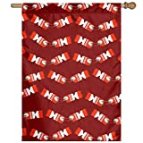 """Garden Flag Christmas Crackers Lawn Banner Outdoor Yard Home Flag Wall Decoration Flag 27"""" X 37"""""""