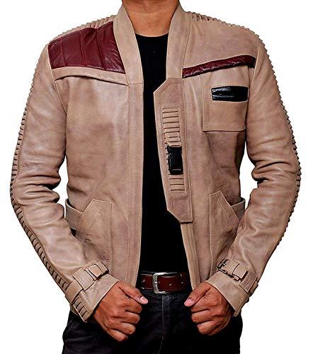 Distressed Vintage Lambskin Leather Jacket   [1100654] Fin Beige, L
